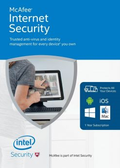 McAfee Internet Security 2018 (5 Licences , 1 Year) Key