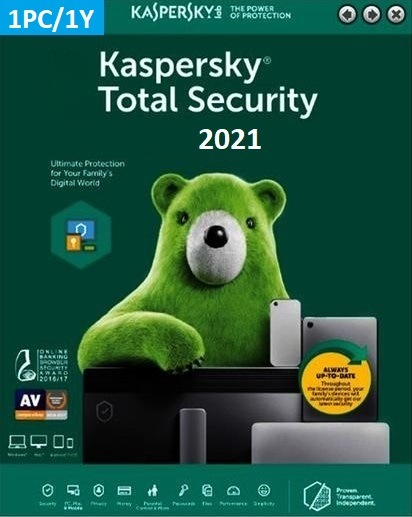 Kaspersky Total Security 2021 (1 Licence 1 Year) Key