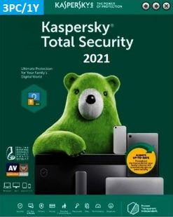 Kaspersky Total Security 2021 (3 Licences 1 Year) Key
