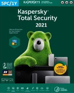 Kaspersky Total Security 2021 (5 Licences 1 Year) Key