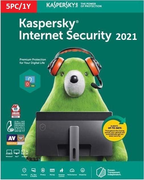Kaspersky Internet Security 2021 5 Users 1 Year - Multi-Device - Ηλεκτρονική Άδεια
