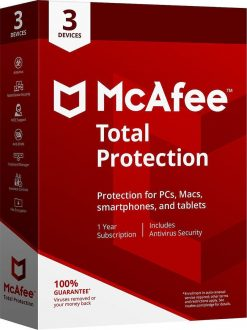 McAfee Total Protection 2021 3 PC 1 Year