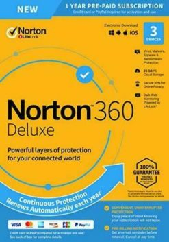 Symentec Norton 360 Deluxe 2021 (3 PC 1 Year)